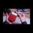 MAZE bőr kártyatok - piros
