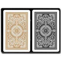 KEM Arrow Narrow Standard (Black and Gold), 2-pack Set (100% műanyag bridzskártya, dupla csomag)