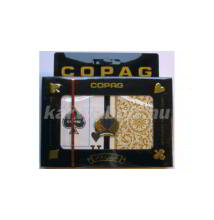 COPAG plasztik póker kártya, 2 Jumbo index, dupla csomag (Black and Gold)