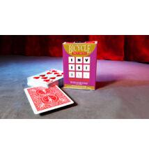 Bicycle Invisible Deck kártya - piros, 1 csomag