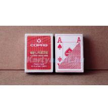 COPAG 100% plasztik póker kártya, 4 Jumbo index - Piros