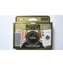 COPAG Texas Hold 'em Gold kártya, dupla csomag + COPAG Dealer Button