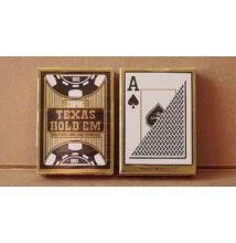 COPAG Texas Hold 'em Gold plasztik póker kártya - Fekete