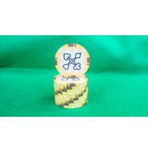 HungaroLinea kerámia póker zseton - 1.000/sárga, 1 db (aligned)