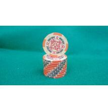 HungaroLinea kerámia póker zseton - 100.000/narancssárga, 1 db (aligned)
