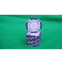 HungaroLinea kerámia póker zseton - 500/lila, 1 db (aligned)