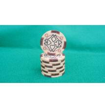 HungaroLinea kerámia póker zseton - 5.000/barna, 1 db (aligned)
