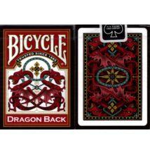 Bicycle Dragon Back kártya, piros hátlappal, 1 csomag
