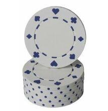 Classic Suited design póker zseton, fehér - 25-pack