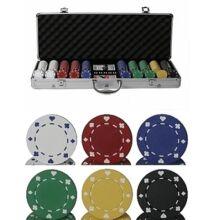 Classic Suited 500 póker zsetonkészlet
