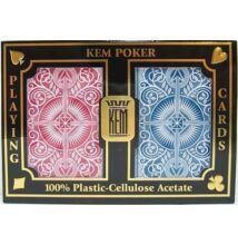 KEM Arrow Wide (Red and Blue) Jumbo, 2-pack Set (100% műanyag kártya, póker méret, dupla csomag)