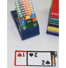 Lion Club Bridge Bidding System (4 db-os bridzs licitdoboz + licitkártya készlet)