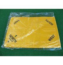 Puha bridzstok készlet, 8 db-os, előre számozott - sárga