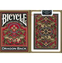 Bicycle Dragon Back kártya, arany hátlappal, 1 csomag