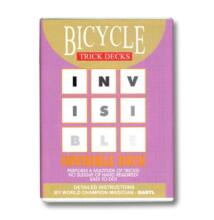 Bicycle Invisible Deck, 809 Mandolin Back kártya - piros