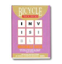 Bicycle Invisible Deck, 809 Mandolin Back - piros, 1 csomag