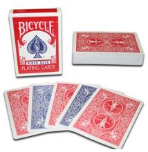 Bicycle kártya, dupla hátoldalas, kék/piros, 1 csomag