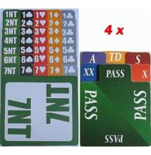 Lion bridzs licitkártya készlet, 100% plasztik, szimmetrikus (4 csomag)