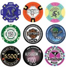 Egyedi kerámia póker zseton, 5000+ db rendelése esetén, ár/db