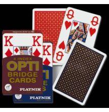 OPTI bridzs kártya, 4 Jumbo index, dupla csomag