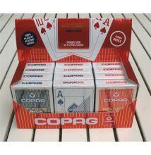 COPAG plasztik póker kártya, 2 Jumbo index, 1 karton (12 csomag)