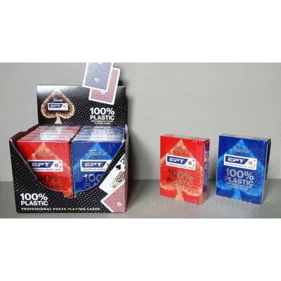 EPT 2020, 100% plasztik, póker kártya, 1 karton (12 csomag)