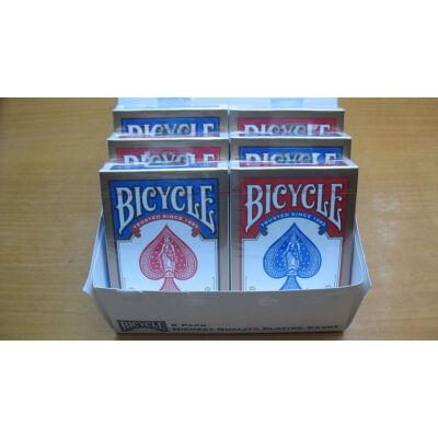 Bicycle 808 Rider Back Gold póker kártya, 6-pack (3 piros + 3 kék)
