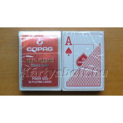 COPAGCOPAG plasztik póker kártya, 2 Jumbo index - piros