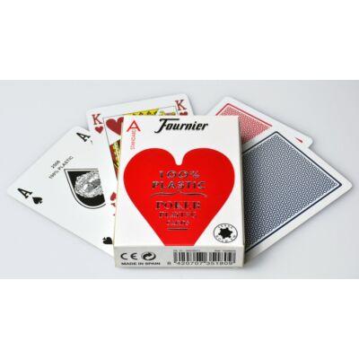 Fournier 2500 - 100% plasztik póker kártya, normál index