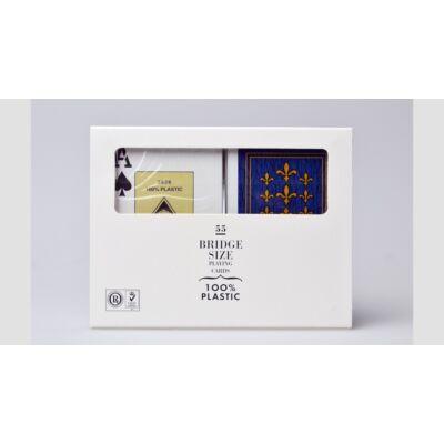 Fournier 'Flor de Lis', Jumbo index - 100% plasztik bridzs kártya, dupla csomag