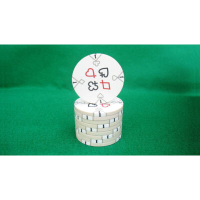 Zseton.hu HungaroLinea kerámia póker zseton - 1/fehér, 1 db (aligned)
