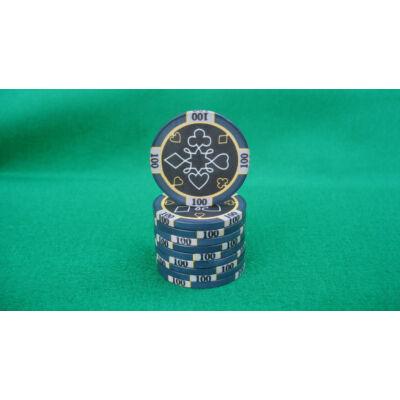 Zseton.hu HungaroLinea kerámia póker zseton - 100/fekete, 1 db (aligned)