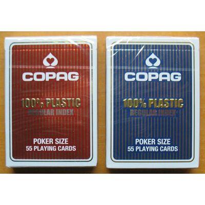COPAG plasztik póker kártya, 2 normál index, 1 csomag