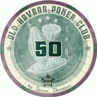 Old Havana Poker Club kerámia zseton - 50 (1 db)