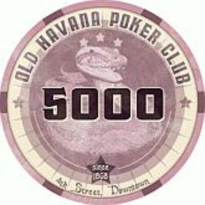 Old Havana Poker Club kerámia zseton - 5 000 (1 db)