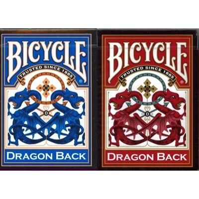 Bicycle Dragon Back kártya (piros v. kék), 1 csomag