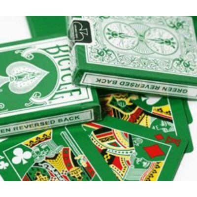 Bicycle Green Deck, Reversed Back kártya, 1 csomag