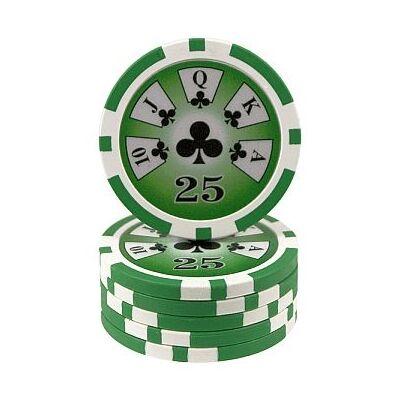 Royal Flush póker zseton, 25 - 25-pack