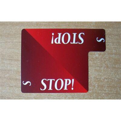 Stop Card - 100% plastic (Lion licitkártya készlethez, Stop kártya)
