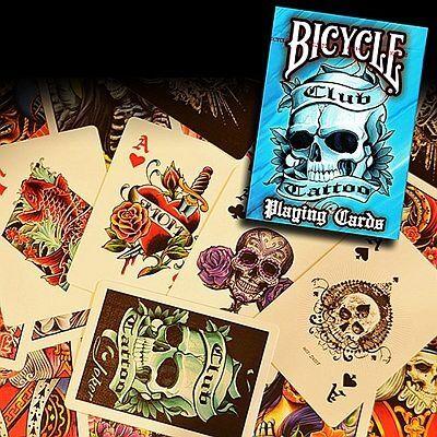 Bicycle Club Tattoo kártya - kék, 1 csomag