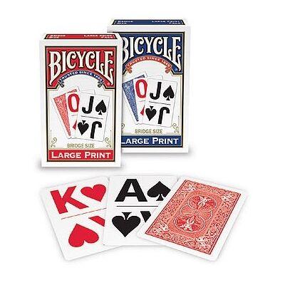 Bicycle LARGE PRINT Bridzs kártya, dupla csomag