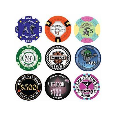 Egyedi kerámia póker zseton, 1000-2999 db között, ár/db
