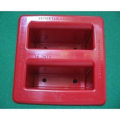 LIOR vagy HERCULES bridzsasztalhoz beépíthető műanyag licitkártya tartó (fekete v. piros)