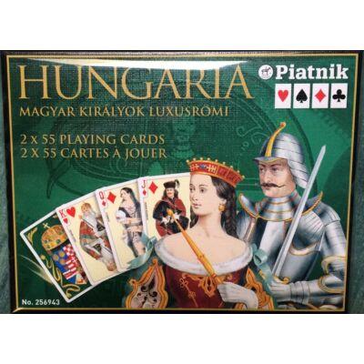 Magyar Királyok, luxus bridzs/römi/kanaszta kártya, dupla csomag