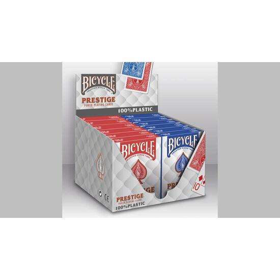 Bicycle Prestige 100% plasztik póker kártya, 1 karton (12 csomag)