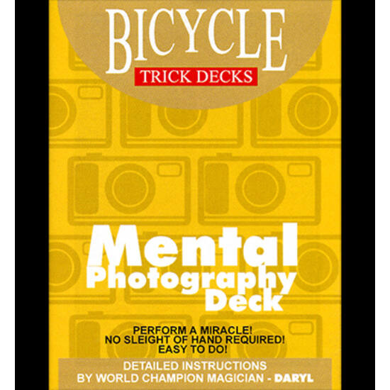 Bicycle Mental Photography Deck - piros, 1 csomag