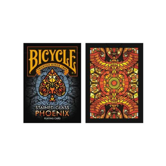 Bicycle Stained Glass Phoenix kártya