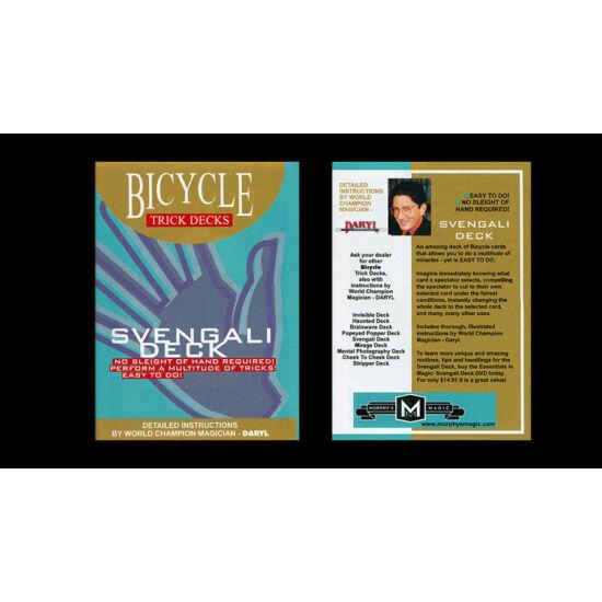 Bicycle Svengali 809 Mandolin Back kártya - piros