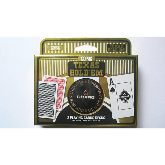 COPAG Texas Hold 'em Gold kártya, dupla csomag + COPAG osztógomb