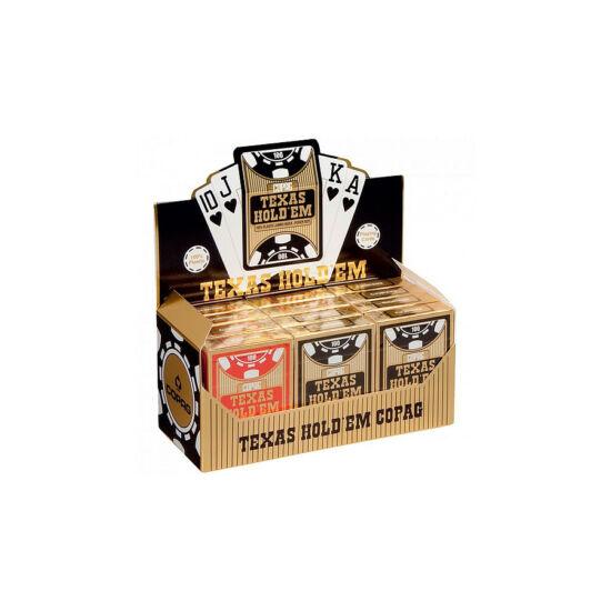 COPAG Texas Hold 'em Gold plasztik póker kártya, 1 karton (12 csomag)